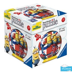 Minions med flag - kuglepuslespil - wupti.com