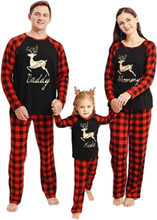 Christmas Xmas Kids Womens Mens Long Sleeve Sleepwear Nightwear Mom M