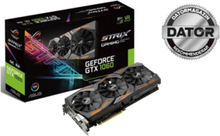 GeForce GTX 1060 ROG STRIX OC - 6GB GDDR5 RAM - Grafikkort