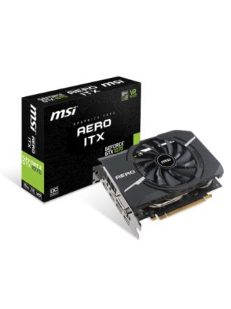 GeForce GTX 1070 AERO ITX OC - 8GB GDDR5 RAM - Grafikkort