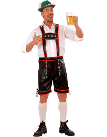 Lederhosen - Oktoberfest Knebukse med Seler