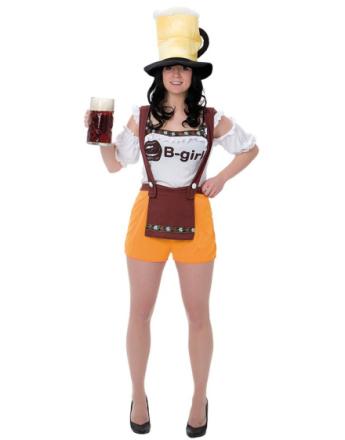 Frøken Oktoberfest Kostyme med Morsom Hatt