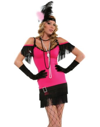 Flørtende Flapper Dame - Komplett Kostyme