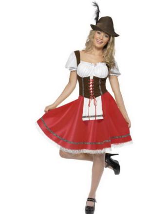 Bayersk Tjenestepike - Oktoberfest Kostyme