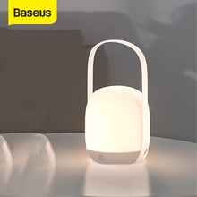 Baseus Handle Night light Touch Dimmable Lantern Portable Table Lamp Reading Lamp 3000-5000K Rechargeable USB LED Light