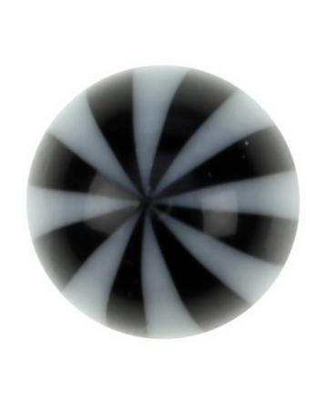 Badboll - Svart och Vit Akrylkula