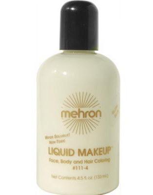 Glow-In-The-Dark Mehron Liquid Makeup for Face, Body & Hair 133 ml - Fluorescent UV/BLACK LIGHT-Sminke