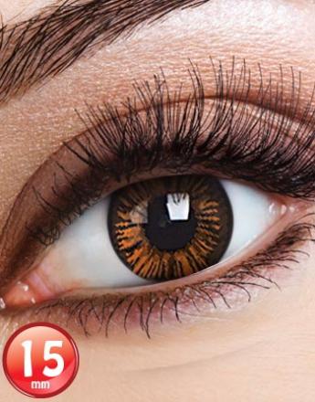 Big Eyes Charming Brown Linser med Styrka