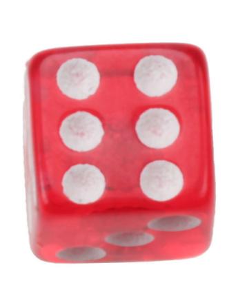 Terning Rød - 5 mm Akrylkule til 1,6 mm stang