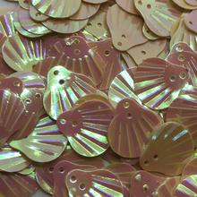Muslingeskaller palietter beige
