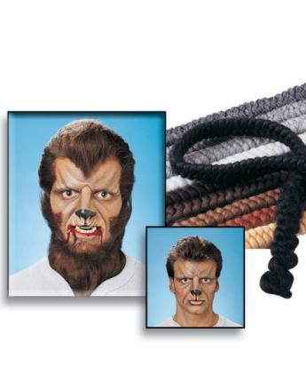 Crepe Hair - ca 30 cm Mehron Löshår för Skägg och Mustasch med teaterlim