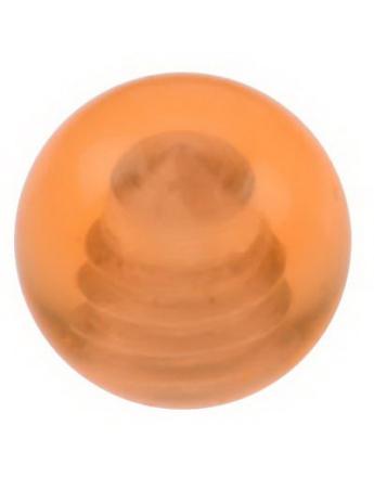 Ball Orange - 3 mm Akrylkule til 1,2 mm stang