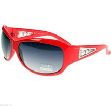 Styleista - Röda Solglasögon med pärlor
