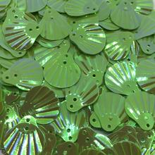 Muslingeskaller palietter grøn