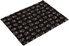 Vetbed® Isobed SL Hundedecke Paw, schwarz/grau - L 100 x B 75 cm