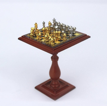 1/6 1/12 Miniature Dollhouse Magnetic Chess Board Table Set Kids DIY Decor Toy Chess Set Chessboard Chess Magnetic Board Game