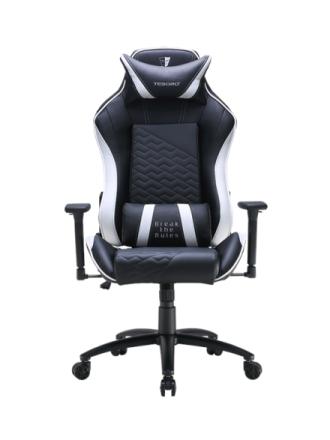 Zone Balance Gaming Chair White Krzes?o gamingowe - Czarno-bia?y - Skóra PU - Do 120 kg