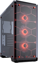 Crystal 570X RGB Red - Chassi - Miditower - Transparent