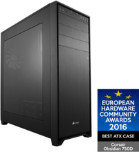 Obsidian 750D - Chassi - Full tower - Svart