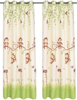 vidaXL Lystette gardiner til barnerom 2 stk 140x240 cm
