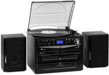 388-DAB+ stereoanläggning max 20W vinyl CD kassett BT FM/DAB+ USB SD svart