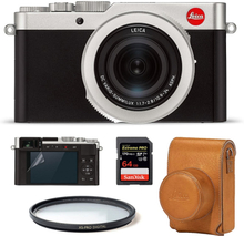 Leica D-Lux 7 Silver Startpaket (Brun väska), Leica