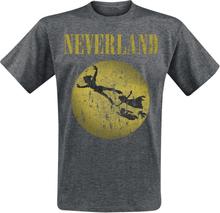 Peter Pan - Neverland -T-skjorte - gråmelert
