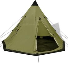 vidaXL 4 hengen teltta Vihreä