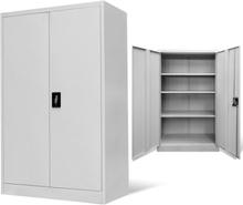 vidaXL Dokumentskåp 90x40x140 cm stål grå