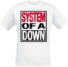 System Of A Down - Triple Stack Box -T-skjorte - hvit
