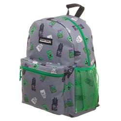 Minecraft Zombie Enderman Backpack School Bag Taske Rygsæk 40cm - wupti.com