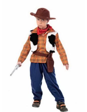 Western Cowboy Luksus Barnekostyme