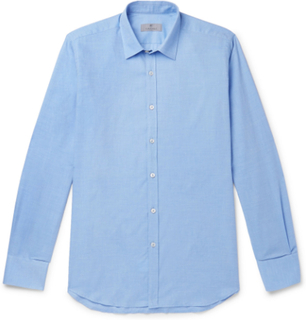 Blue Cotton And Cashmere-blend Shirt - Blue