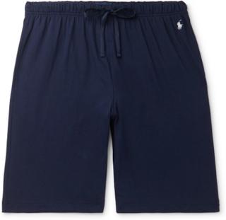 Slim-fit Cotton-jersey Pyjama Shorts - Navy