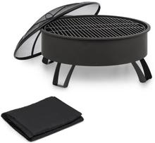 Oreos eldskål Ø75cm   Ø68cm grill regnskydd stål svart