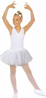 Hvit Ballerina Tutu - Kostyme Skjørt Barn