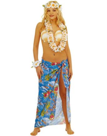Hawaii-Sarong - Blå