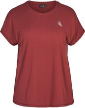 Basic T-shirt - Zizzi, Röd / S (42-44)