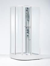 Ifö Solid SKR brusekabine 90 x 90 cm med alu profil og klart glas