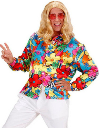 Flower Power Skjorte til Mann