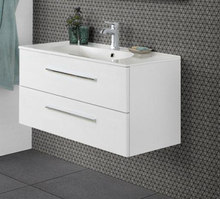 Dansani Luna møbelpakke med skuffer og Kantate vask 101 x 45,5 cm i hvid højglans