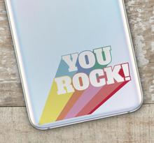 you rock text samsung sticker