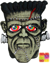 Frankenstein Monstertryne 40x30 cm - Vegg/Dør Dekorasjon m/Lys