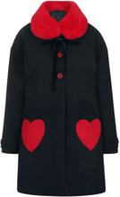 Hell Bunny - Corazón Kåpe -Frakker - svart, rød