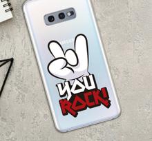 you rock samsung sticker