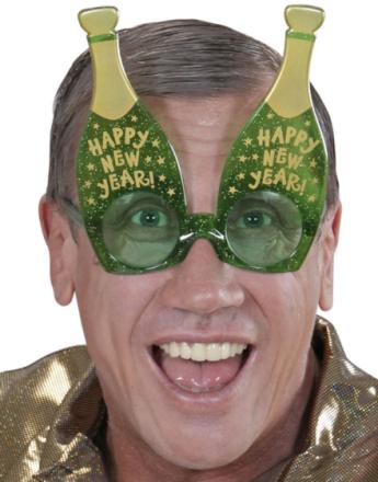 Happy New Year! - Morobriller med Champagneflasker
