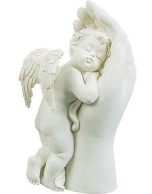 Sovende Engel i Høyre Hånd - 17 cm Engelfigur