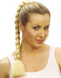 Lys Blond Clip-on 50 cm Flette - Løshår