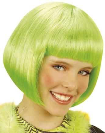 Parykk til Barn med Bob-frisyre - Grønn