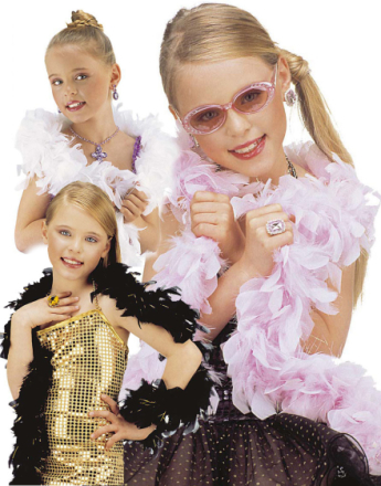 Fjær Boa m/Glitter 150 cm - Kostymetilbehør Barn 150 cm - Velg Farge